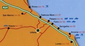 Cartina per Urbino