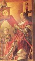 Federico da Montefeltro con il figlio