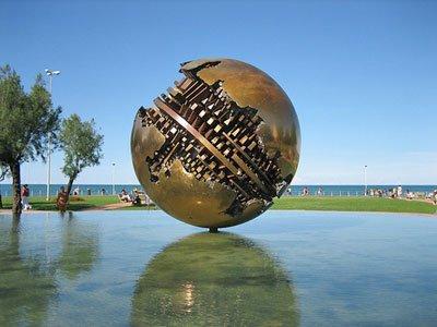 Pesaro - La palla di Arnaldo Pomodoro