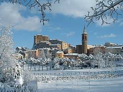 Sant'Agata Feltria d'inverno con la neve