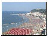 Panorama della spiaggia di Gabicce Mare