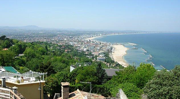 Riviera di Rimini vista da Gabicce Monte
