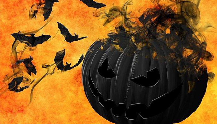 La zucca e i pipistrelli... tipico di Halloween Gradara