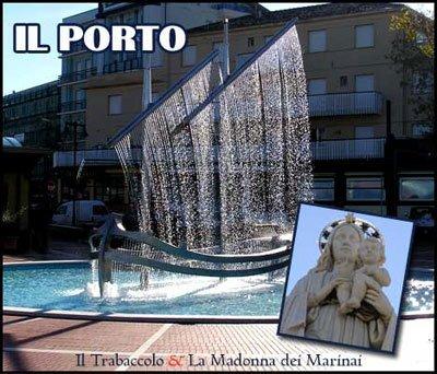 Trabaccolo e Madonna dei Marinai - Piazza del Porto
